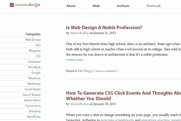 Vanseo Design Blog