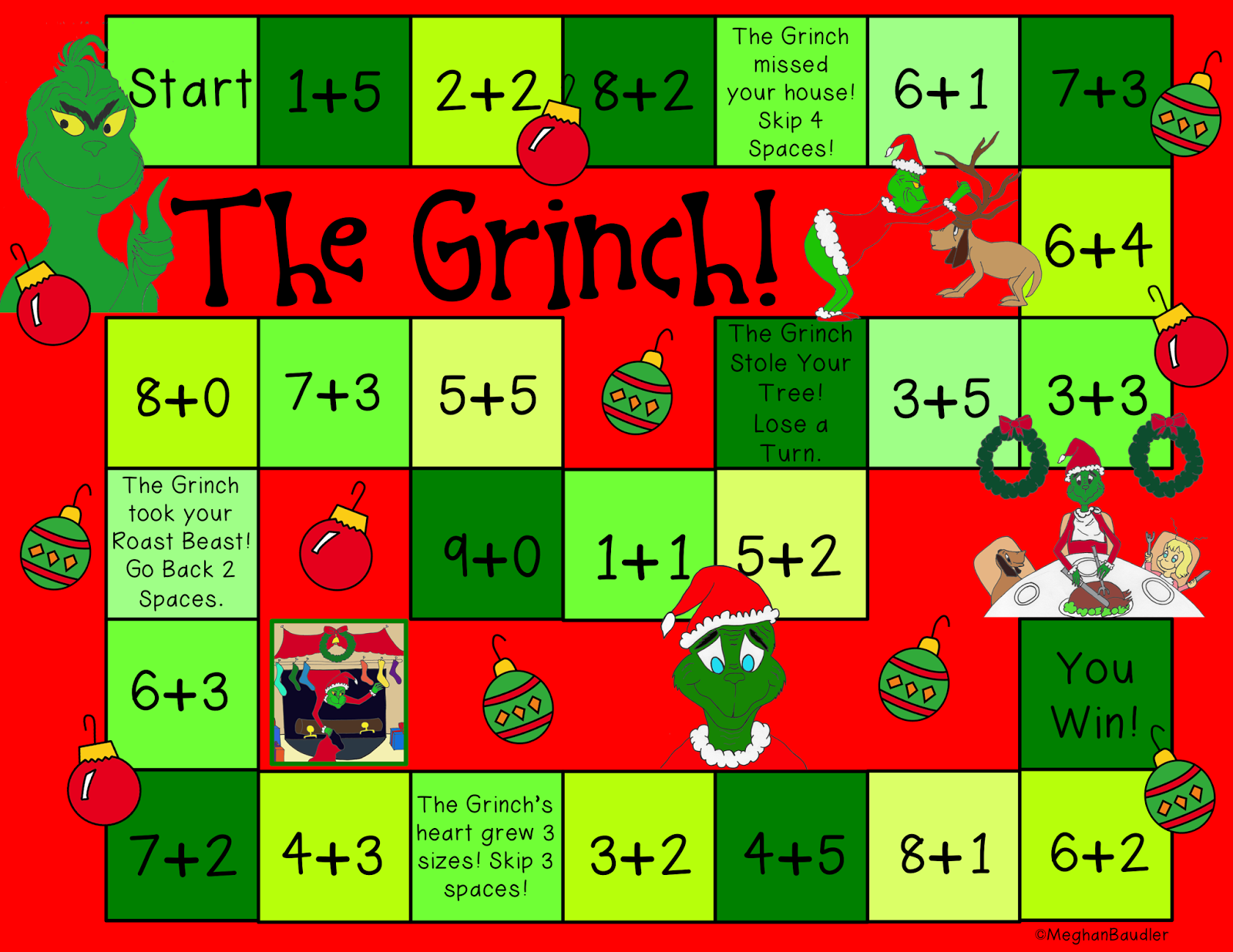 Classroom Game Ideas ~ The creative colorful classroom grinch day plans