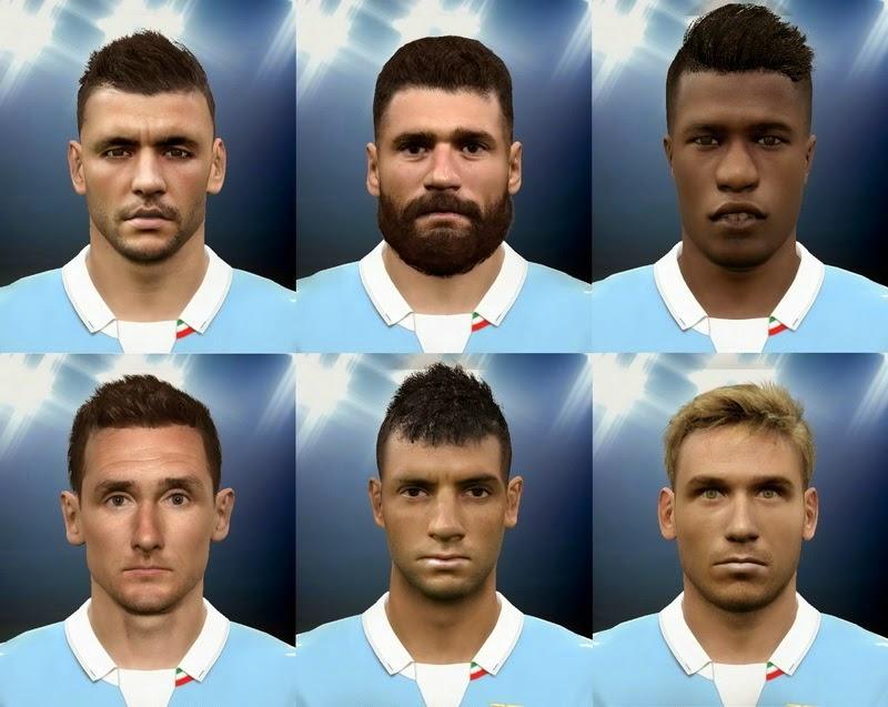 Lazio Facepack Terbaru untuk PES 2015