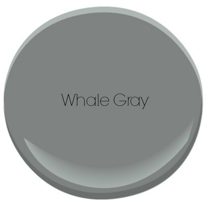 The Holland House: Benjamin Moore Whale Gray