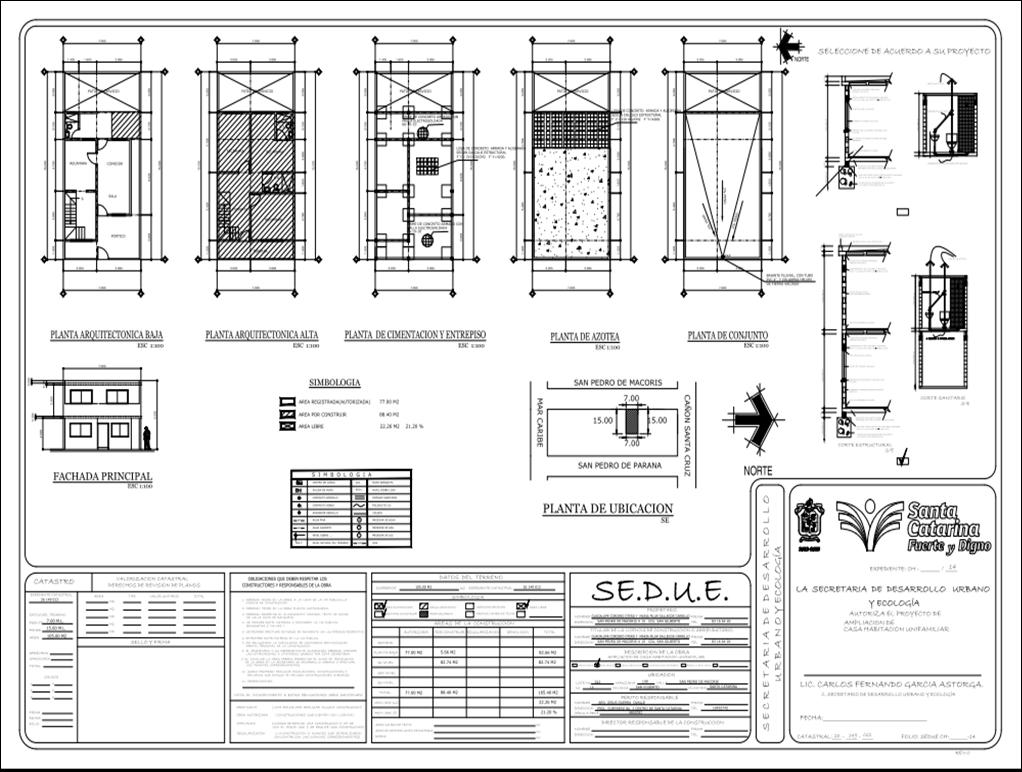 P l a n o s croquis y permisos construccion cuanto me for Cuanto cuesta un plano para construir una casa