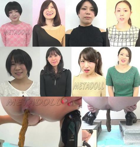 [FF-053] Pooping girls casting. Beautiful girls closeup pooping.