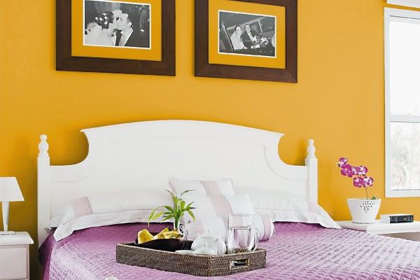 Cores quentes para o quarto de casal ~ Varejão das Tintas