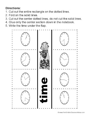 Fern Smith's What Time Is It Center Game - Time To the Five Minute for Valentine's Day!