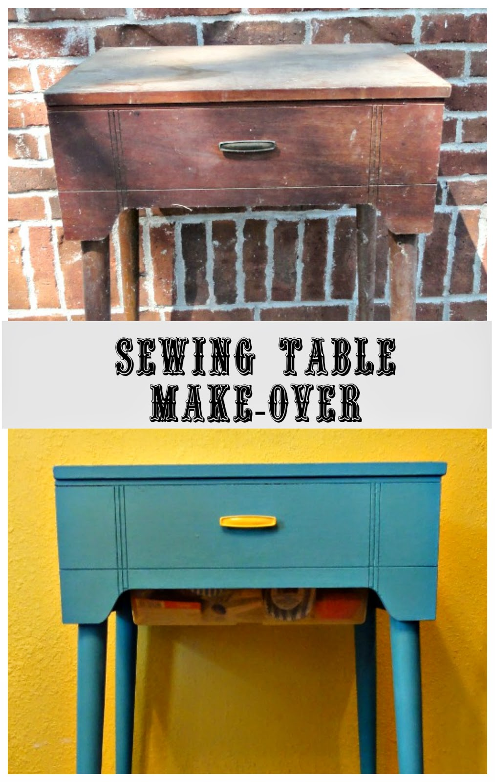 Sewing Table Make-Over