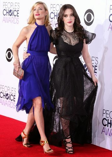Kat Dennings and Beth Behrs together on the red carpet