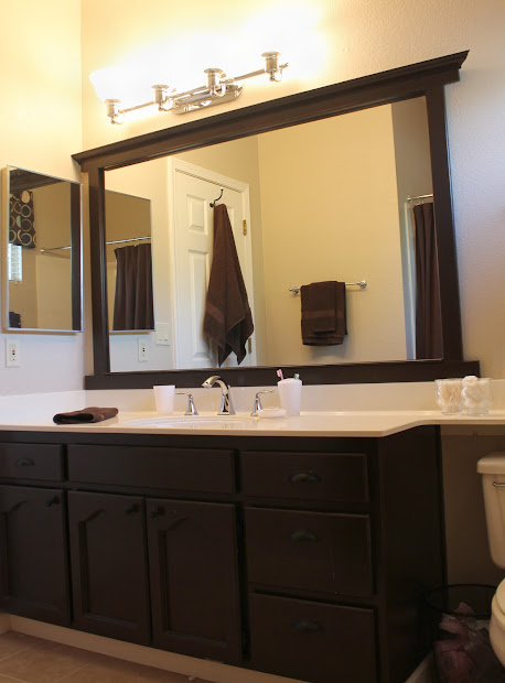 Frame Bathroom Mirror without a Miter Cuts