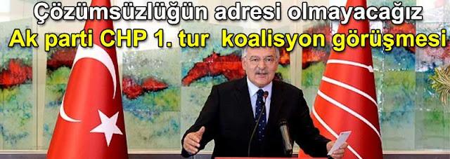 Haluk Koc: cozümsuzlügun adresi olmayacagiz AKP AkParti CHP koalisyon gorusmeleri