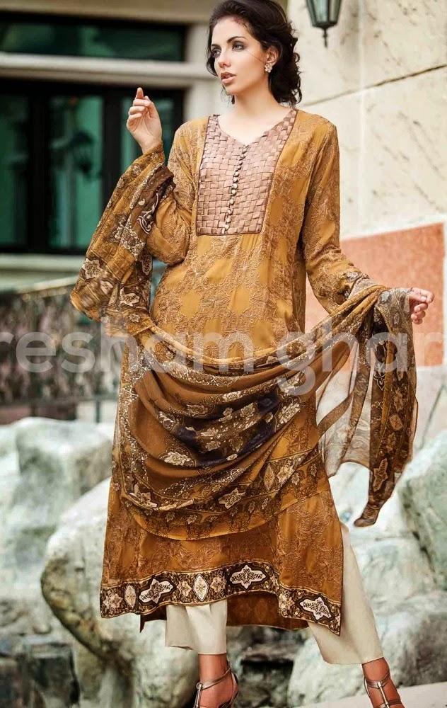 Resham Ghar Chiffon Eid Collection-2014