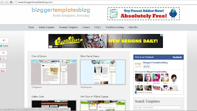 blogger template blog