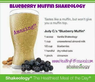 Tips to stay on track this Labor Day! Blueberry Muffin Shakeology, www.HealthyFitFocused.com Julie Little