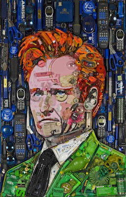 recycled celebrities art by Jason Mecier 1 Bila Sampah Dijadikan Lukisan Selebriti