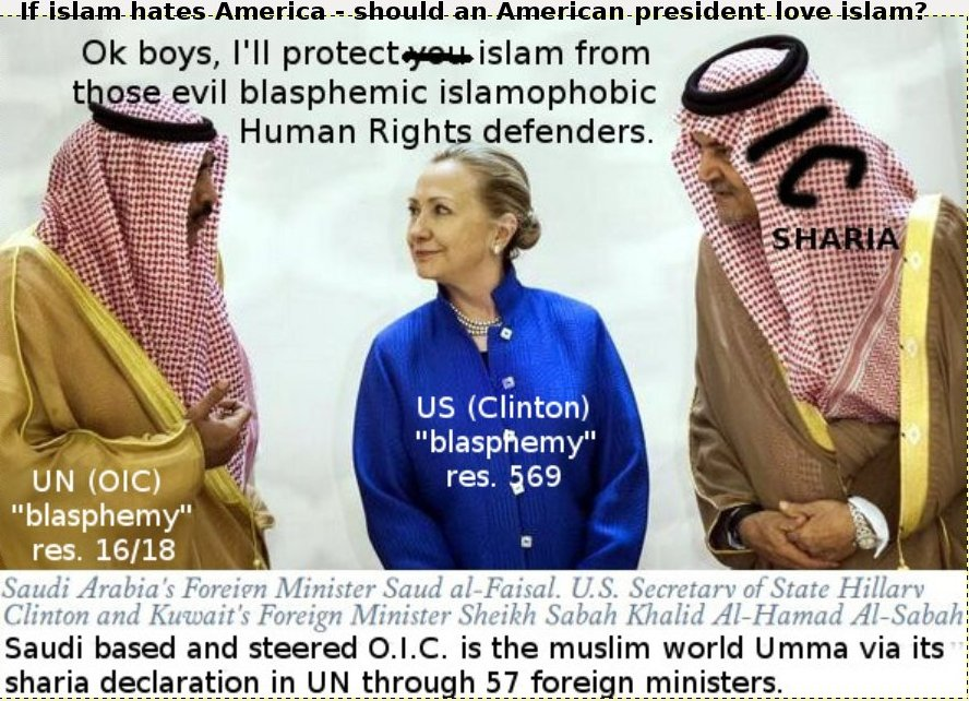 Muslims and Hillary against Human Rights