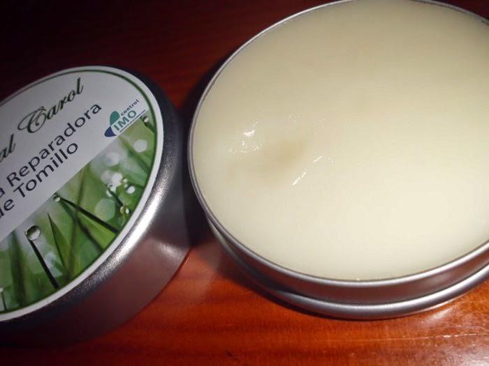 crema reparadora de tomillo de natural carol