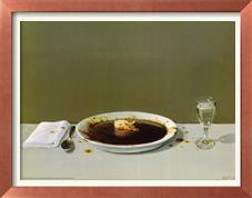 Sabe essa coisa branca no meio do prato? Pois bem... é um PORCO!! Repare bem...   ;)