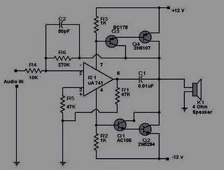 Dg126 10W Mini Audio  lifier besides Integrated Microphone Pre together with Wire Break Sensor Alarm besides Simple Tone Generator Schematic moreover LM1577 LM2577 dual 15V power supply 19447. on 12 volt audio amplifier circuit