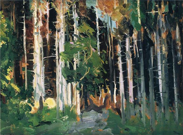 1913 Through the Trees