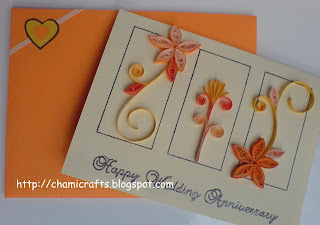 Chami crafts handmade greeting cards wedding for Anniversary craft ideas for parents