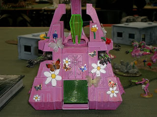 Hello Kitty Warhammer 40k pink Necron Monolith conversion