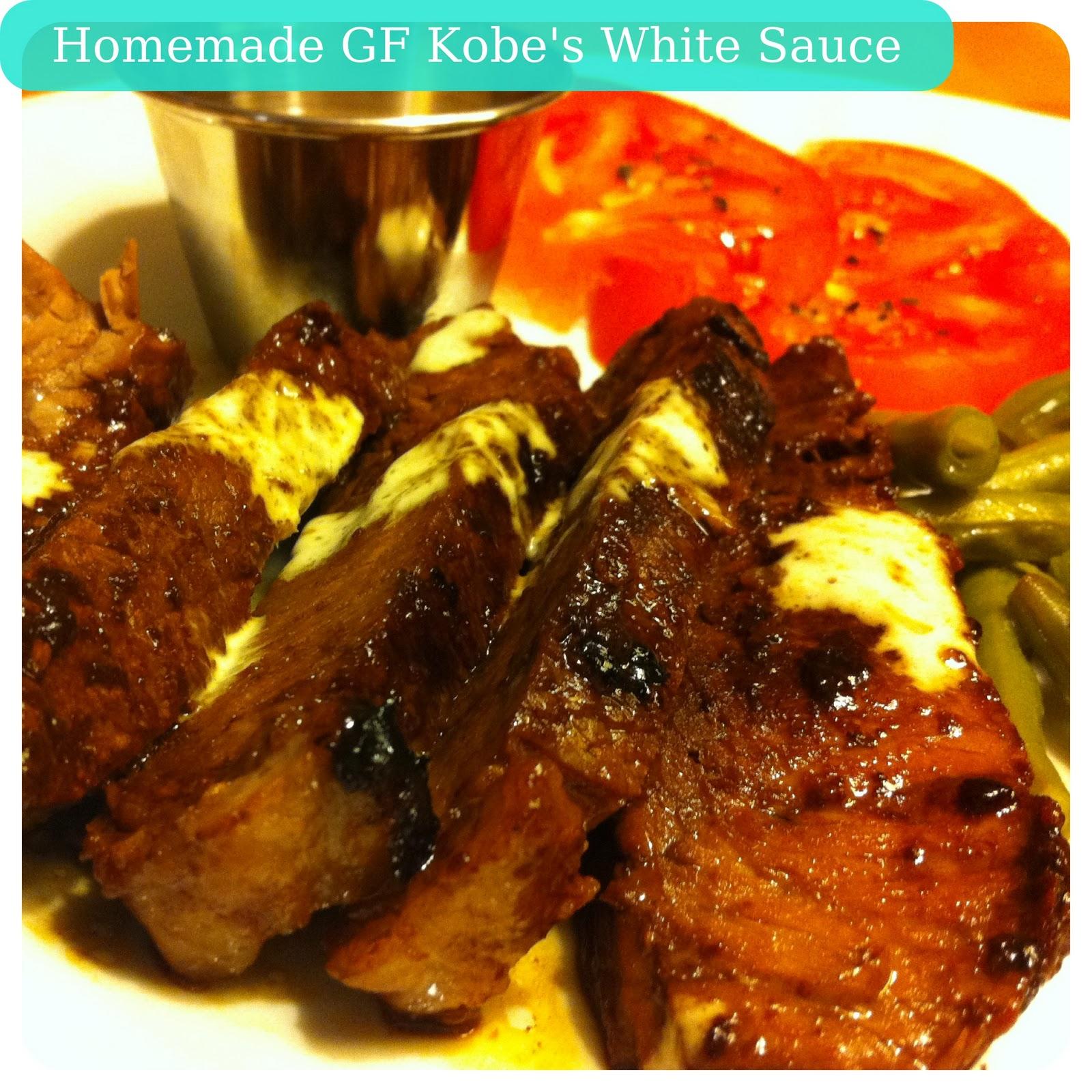 Gluten Free Booty: Gluten Free - Kobe's Steak House - White Sauce