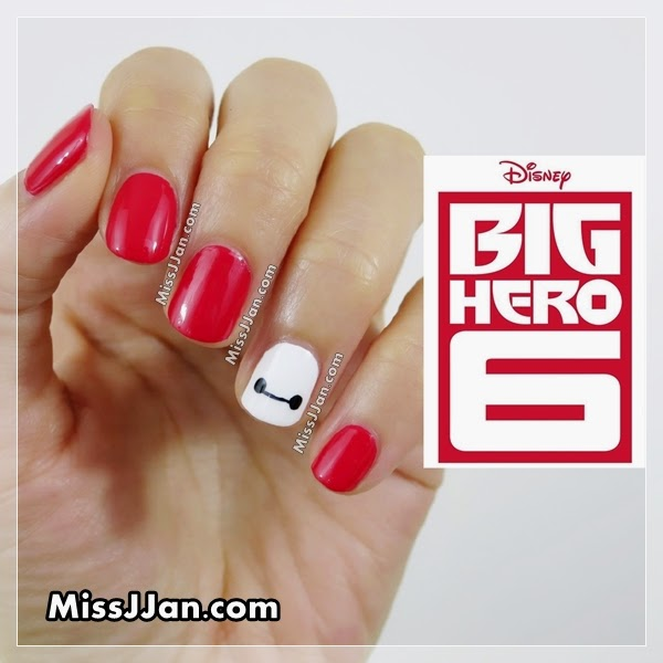 Missjjans beauty blog very easy disney big hero 6 inspired second post today is a super super easy nail tutorial inspired by the disney movie big hero 6 baymax have your hero on the finger tip is pretty awesome prinsesfo Gallery