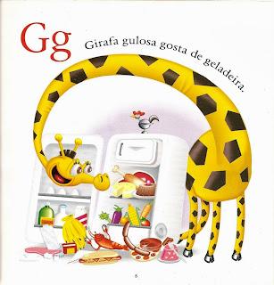 Girafa gulosa gosta de geladeira