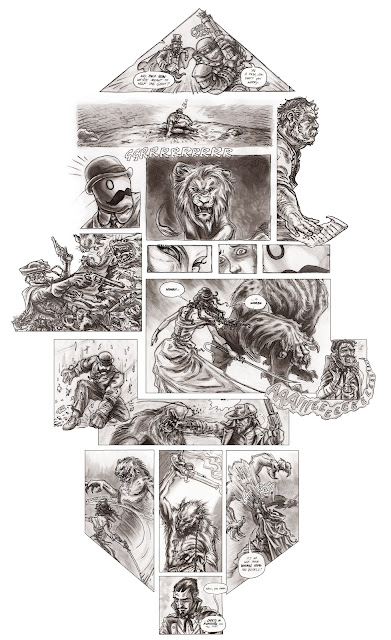 hyena fight bigfoot sasquatch lion skaven