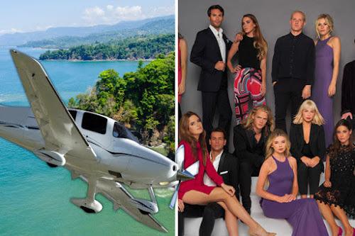 Avião com membros da produção do Made In Chelsea cai no mar
