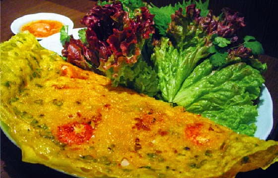 """Banh xeo"" is Vietnamese style crepe"