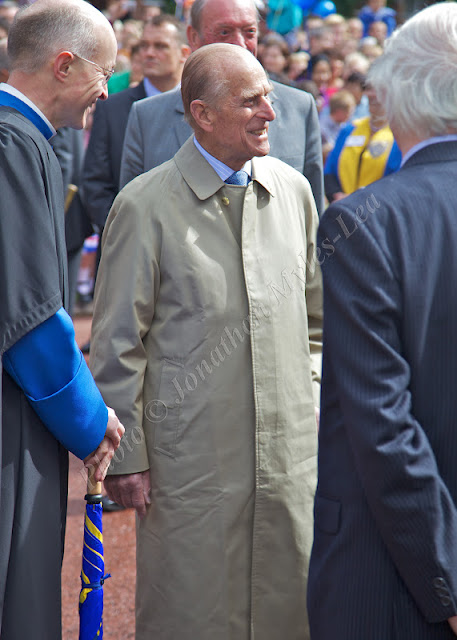 His Royal Highness The Duke of Edinburgh visits Hereford Cathedral. 11 July 2012 Photo © Jonathan Myles-Lea