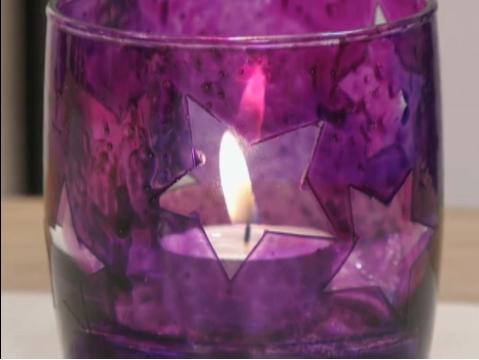 Luminárias com copos