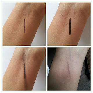 Maybelline colossal kajal black swatch