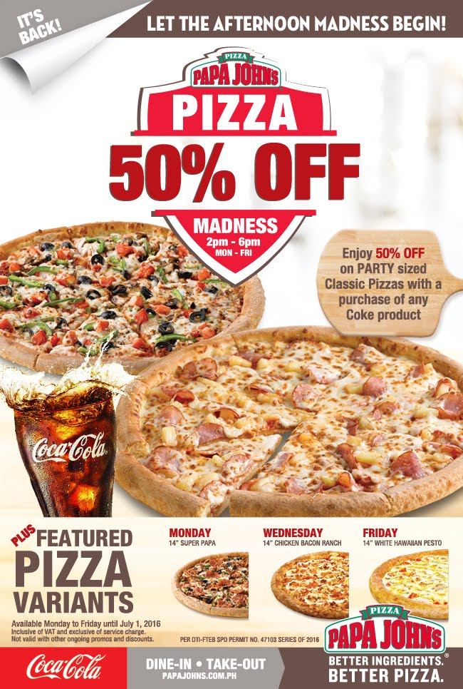 Did your teams earn half price pizza last night? Papa John's promo codes and last night's scores.