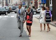PHOTO: Obama Family Attends Easter Sunday Church Service 2013.