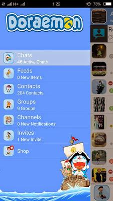 Download BBM Mod Mi-BBM Doraemon v2.8.0.21 Apk