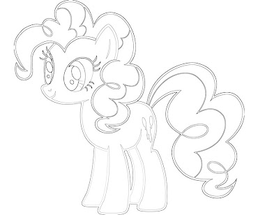 #3 Pinkie Pie Coloring Page