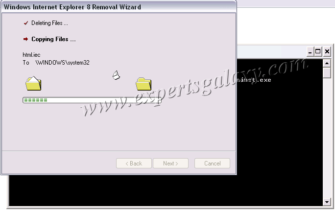 how to stop internet explorer in command prompt