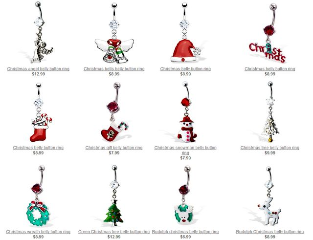 Belly Button Rings for Christmas