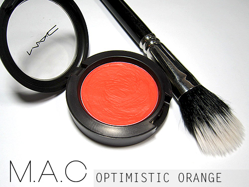 mac optimistic orange blush review