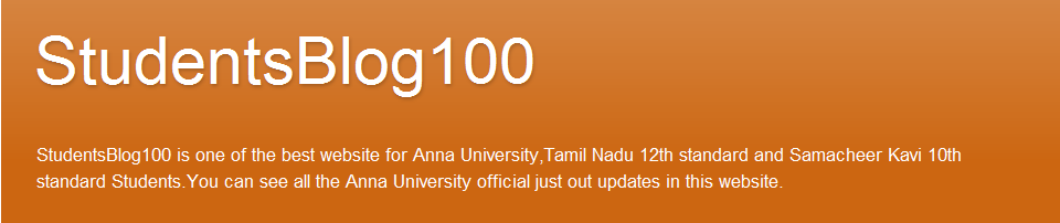 TamilNadu 10th standard Results 2013 | studentsblog100 | Anna University Ques papers
