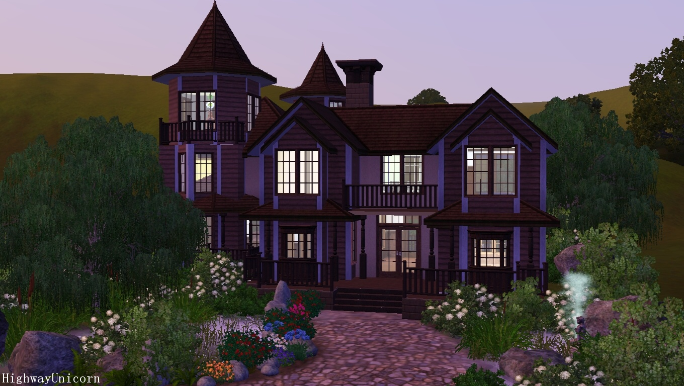 My sims 3 blog old victorian house by highway unicorn for Classic house sims 4