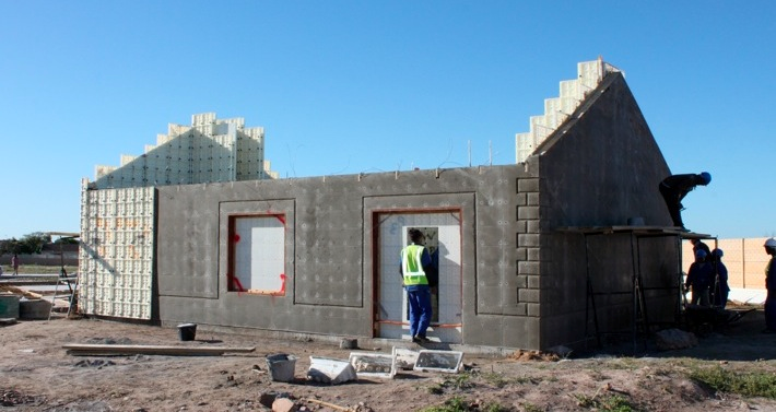 Cement House Construction : Low cost housing moladi south africa