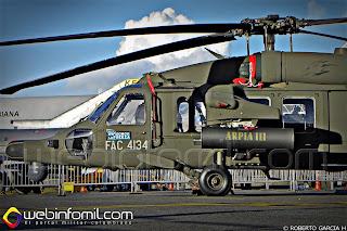 FAC4134 Helicóptero AH-60 Arpía de la Fuerza Aérea Colombiana