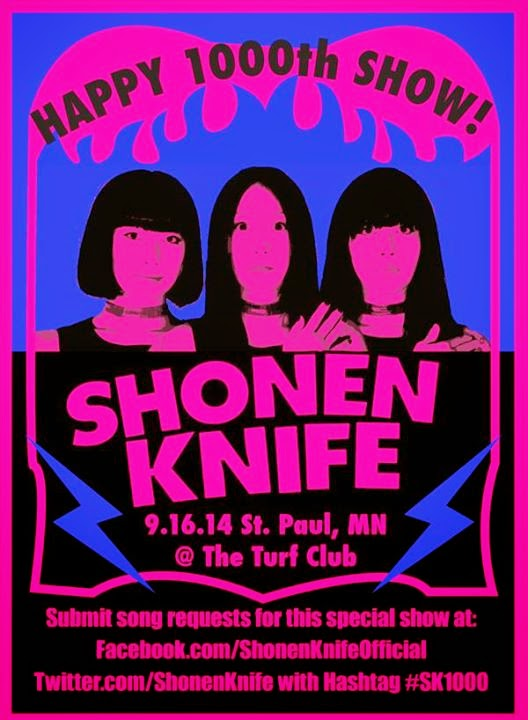 Shonen Knife Taking Fan Requests For Their 1000th Show!