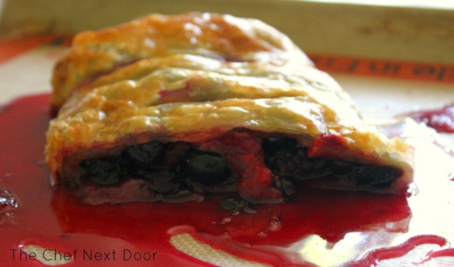 Triple Berry Strudel | The Chef Next Door