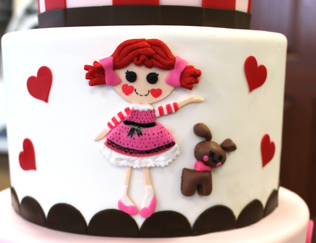 Rag Doll and Puppy on Birthday Cake