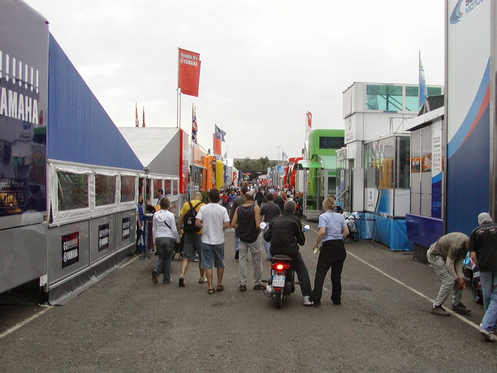 Paddcok del circuito de Donington Park