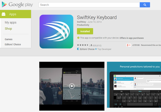 https://play.google.com/store/apps/details?id=com.touchtype.swiftkey