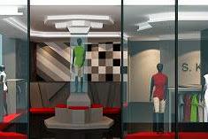 Jasa Desain 3D Interior Toko Baju Fashion Mewah Minimalis Modern