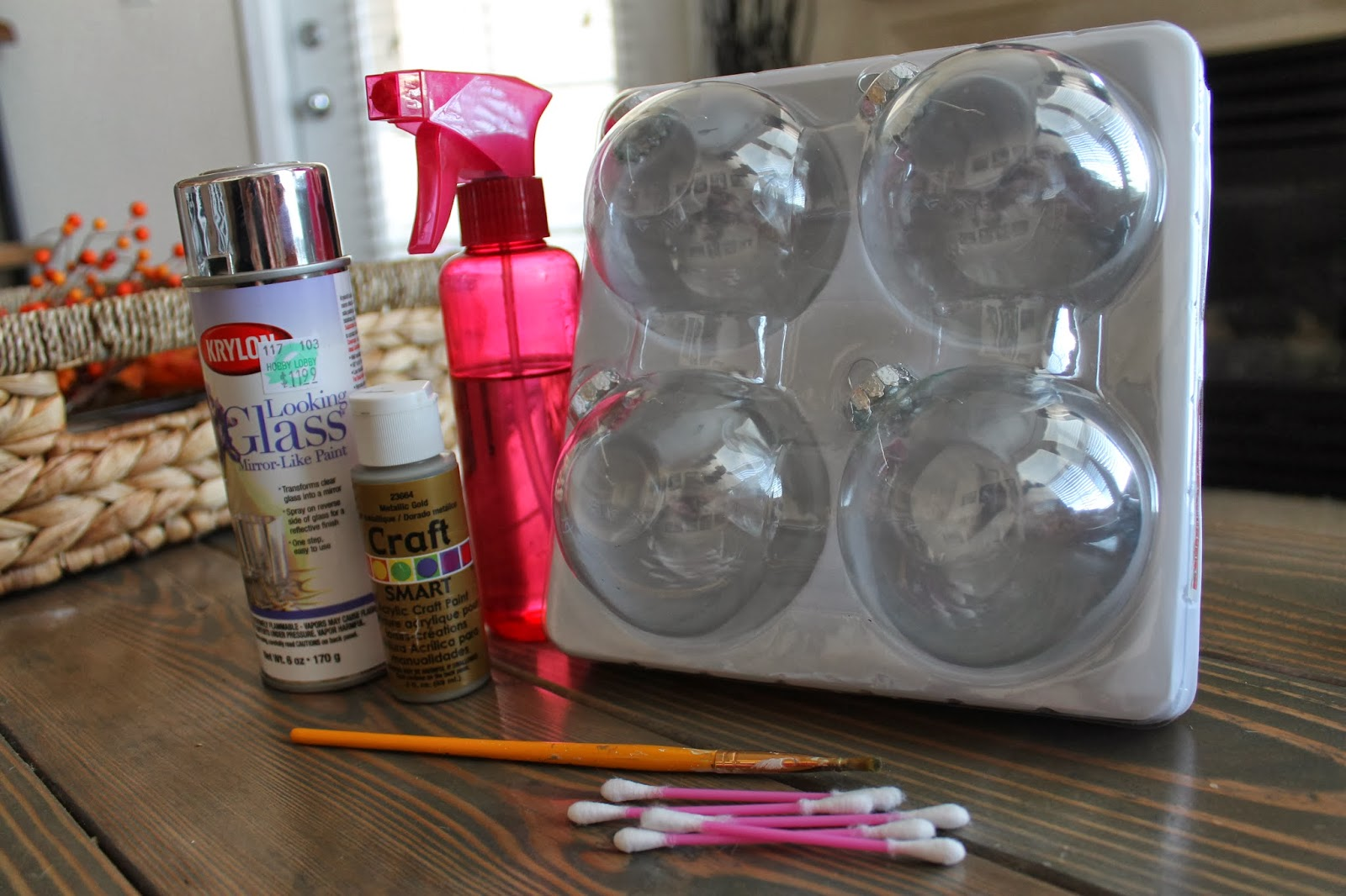Hobby lobby glass ornaments -  Plus A Hair Dryer Looking Glass Paint Is From Hobby Lobby Ordinary Spray Bottle From Target